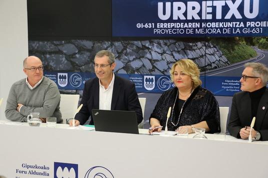 La renovación y mejora de la carretera GI-631  entre Azkoitia y Urretxu arrancará en el 2019