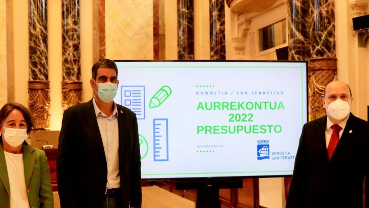 El presupuesto de Donostia para 2022 marcará el camino a la recuperación de la situación previa a la pandemia