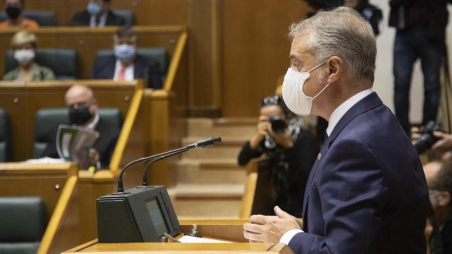Urkullu anuncia una inversión de 1.600 millones de euros para el relanzamiento económico de Euskadi tras la pandemia